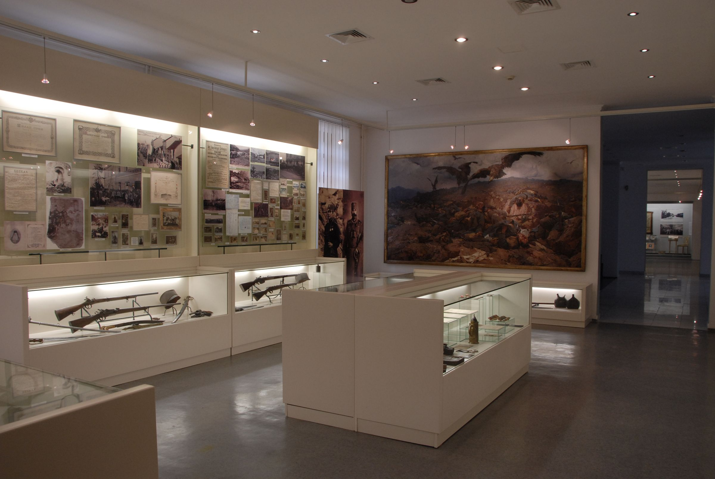 View of the central part of the War History Hall