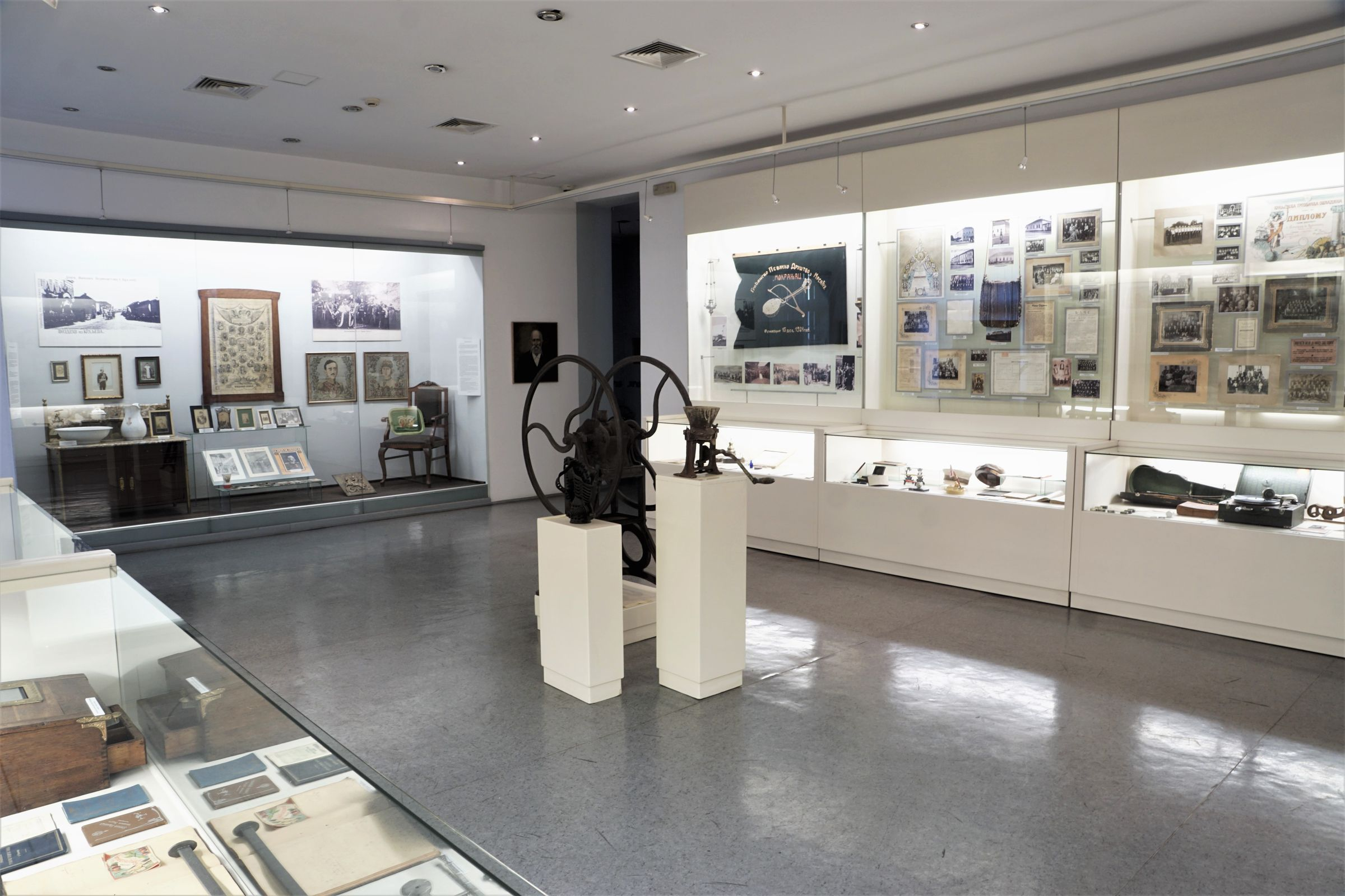 View of the second part of the Social History Hall