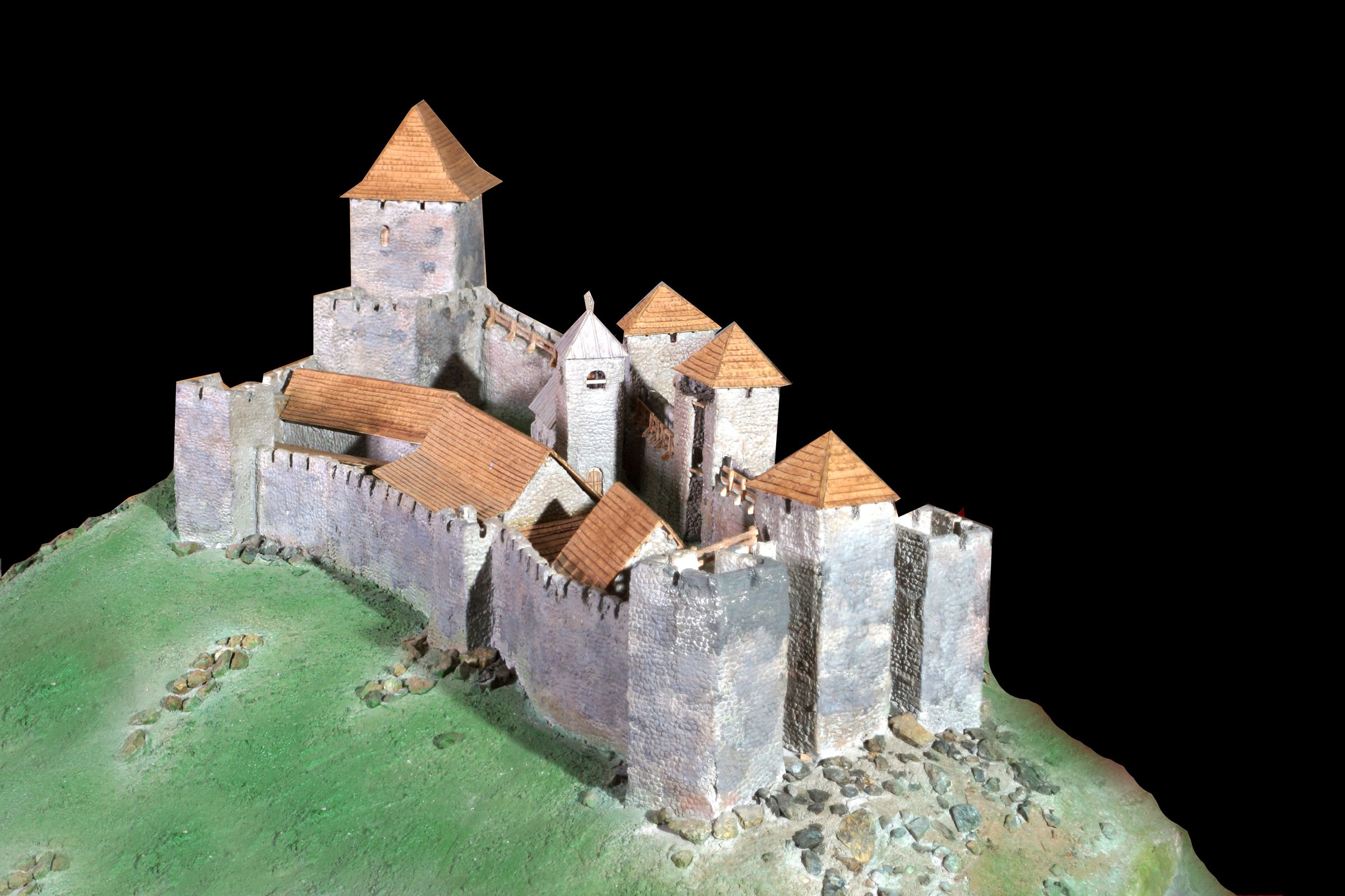 Model of the Maglič Fortress