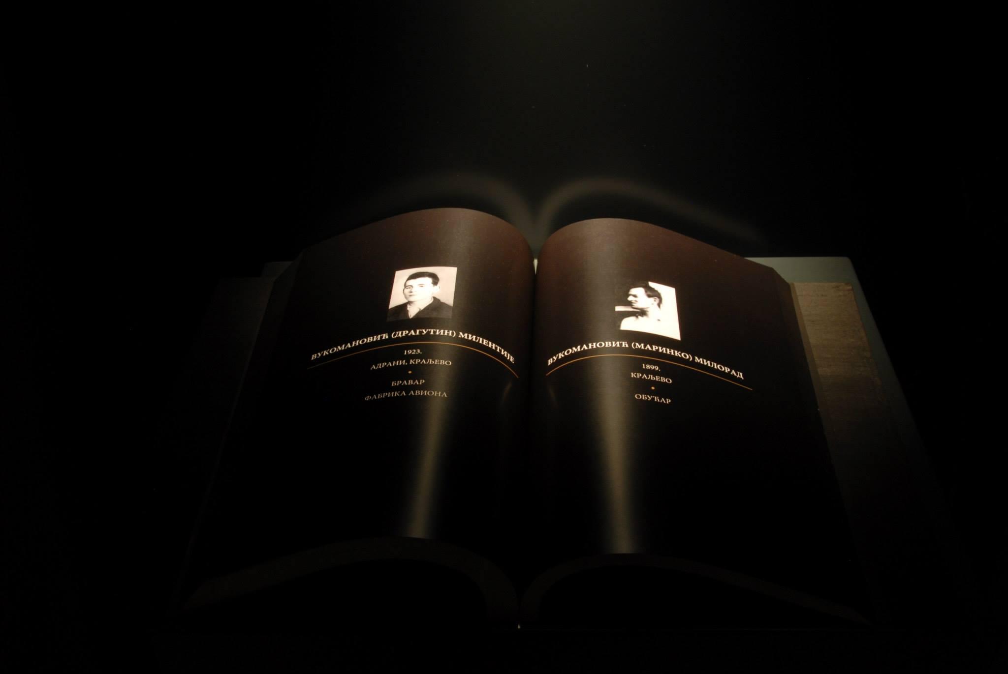 Book of Remembrance for the Victims of Shooting in October 1941 in Kraljevo
