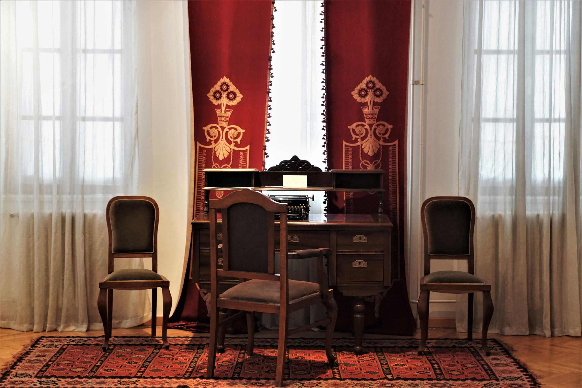 Reconstructed ambience of the study from the end of the 19th and the beginning of the 20th century