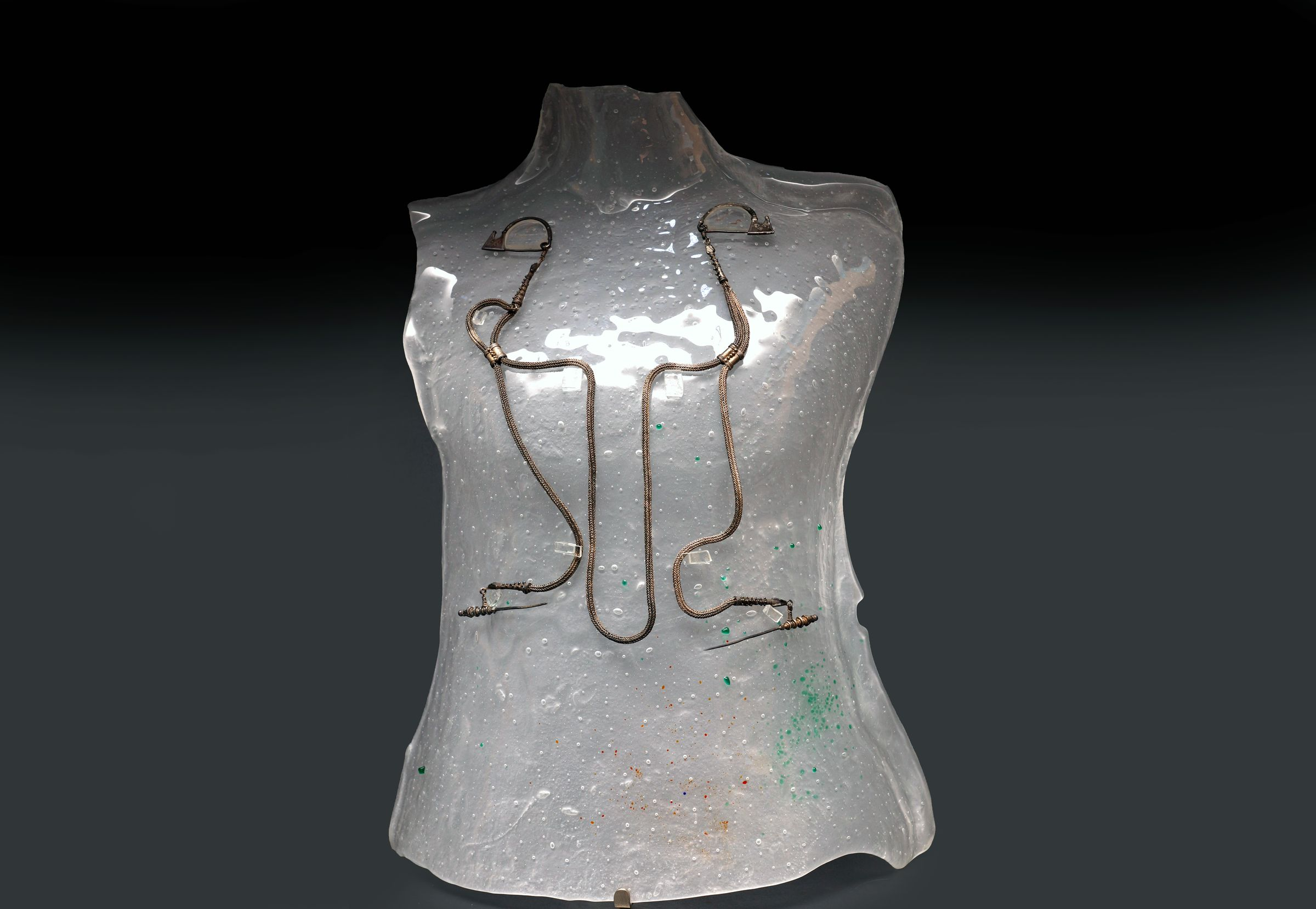 Silver jewelry from the Iron Age prince's tomb from Kruševica