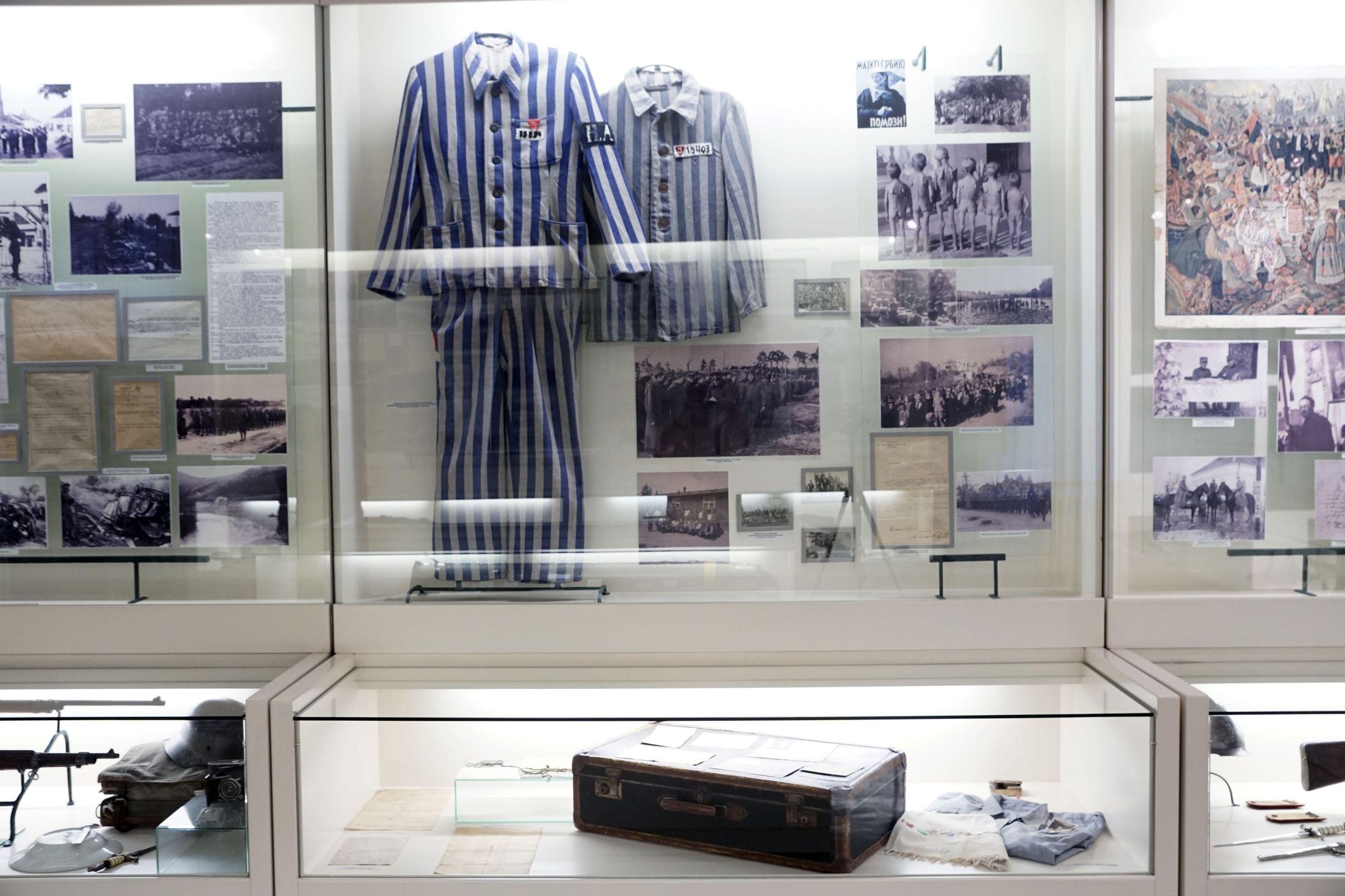 isplay cases dedicated to World War II in Kraljevo